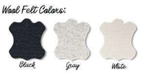 wool felt pad colours